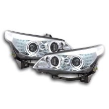 headlight Angel Eyes LED Xenon BMW serie 5 E60/E61 Year 05-08 chrome