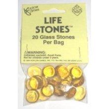 Yellow Glass Gaming Stones 20ct