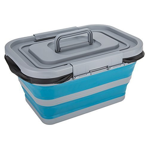 Summit Pop 18l Folding Cool Box Blue - St206b Grey 9949 -  st206b pop 18l folding cool box blue grey 9949