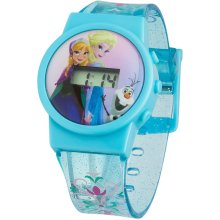 Blue Frozen Lcd Watch -  childrens frozen watch watches singing let go lcd froz32 digital display pink dial blue plastic strap