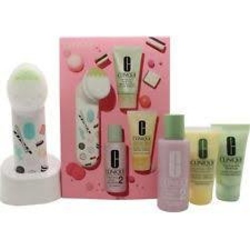 Clinique 3-Step Skincare Gift Set 30ml Foaming Facial Soap + 60ml Clarifying Lotion 2 + 30ml Dramatically Different Moisturising Lotion