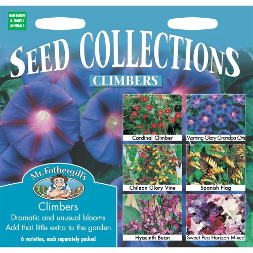 Mr Fothergills - Pictorial Packet - Flower - Climbers (Mixed) Collection - 6 Types Seeds