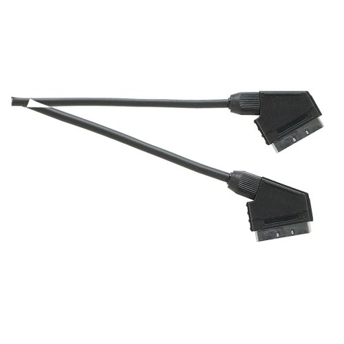 Standard Scart Plug to Scart Plug  TV and Video Lead All Pins Connected - Lead Length (m) 1.5