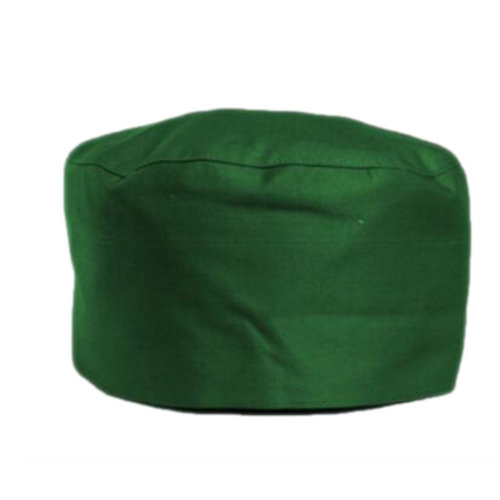 Japanese Fashion Cook Hats Hotel Cafe Flat Hat Adjustable Chef Hats-Grass Green
