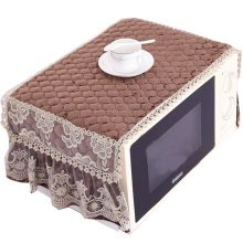 Exquisite Microwave Oven Dustproof Cover Microwave Protector -Coffee