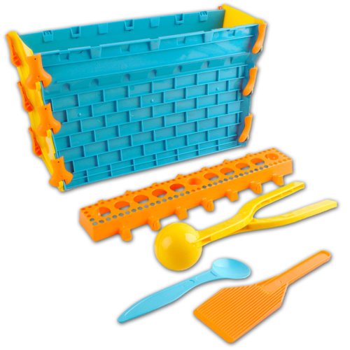 deAO Snowball Fight Playset Winter Toys for Children Snow Fort & Snowball Maker Set Including Scraper and Spoon