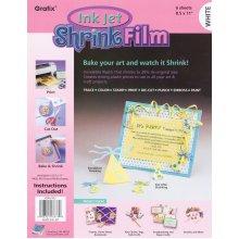 "Grafix Ink Jet Shrink Film 8.5""X11"" 6/Pkg-White"