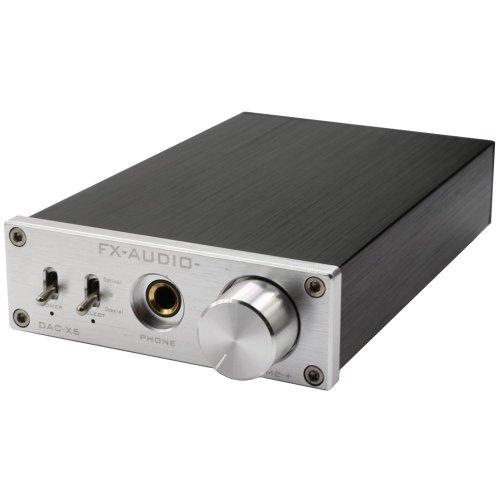 FX Audio DAC-X6 24BIT/192 Optical/Coaxial/USB Digital Audio Amplifier DAC Decoder - Silver