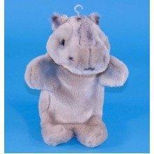 Dowman Rhinoceros Hand Puppet Soft Toy 28cm