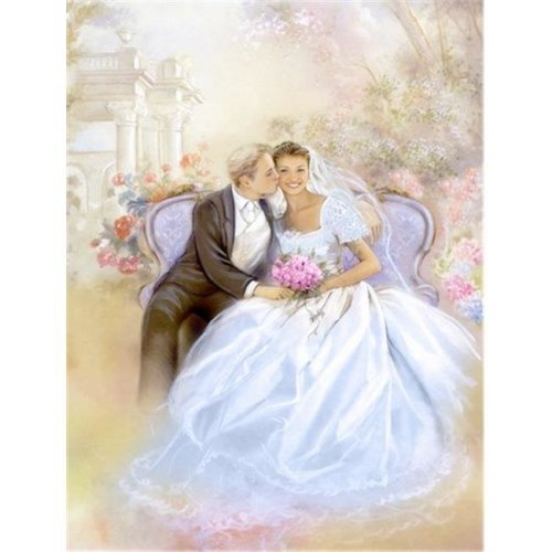 Carolines Treasures APH8292CHF Wedding Couple Kiss Flag Canvas House Size