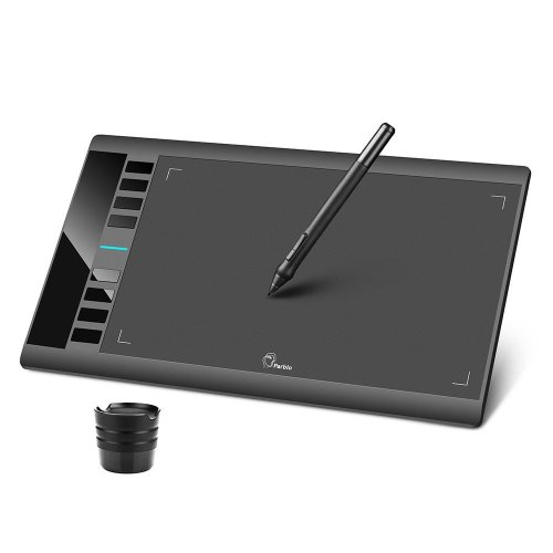 "Parblo A610 10"" x 6"" Graphic Drawing Tablet with 8 Express Keys and Battery-free Drawing Tablet Pen, Support Windows 10/8/7 & Mac OS"