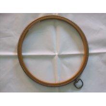 "Siesta 8"" Round Plastic Flexi Hoop - Woodgrain Effect"
