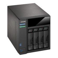 ASUSTOR AS6104T 4-Bay NAS Enclosure (No Drives), Dual Core CPU, 2GB DDR3L, HDMI, USB3