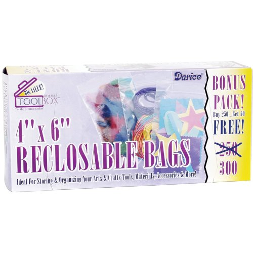 "Reclosable Bags 300/Pkg-4""X6"" Clear"