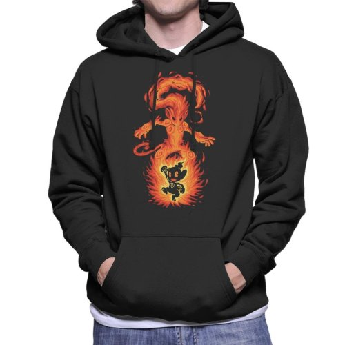The Fire Ape Within Infernape Chimchar Pokemon Men's Hooded Sweatshirt