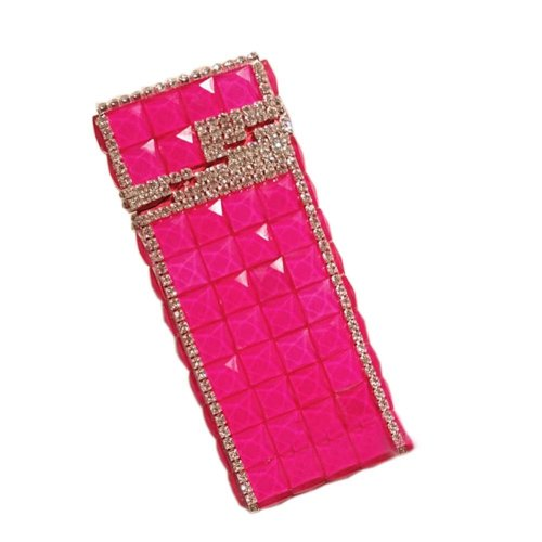 Stylish Luxury Rhinestone Small Cigarette Holder Case Great Gift for Girlfriend, C