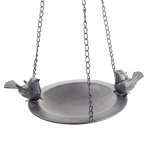 Bosworth' Hanging Decorative Black Metal Bird Feeder Bowl