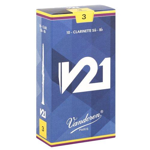 Vandoren V21 Bb Clarinet Reeds - Box of 10 - Strength 3