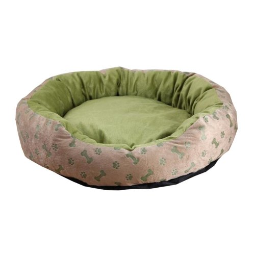 Green Detachable Pet Beds with Dog Paw Pattern