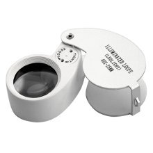 TRIXES Jewellers LED Eye Magnifier Loupe Lens 40 X 25mm