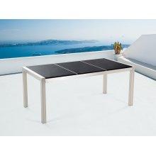Nice Garden Table 180cm - Stainless Steel - Granite Plate - GROSSETO