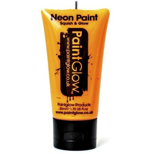 50ml Orange Uv Neon Face & Body Paint - Glow Paintglow Loose Make Up -  paint neon face body 50ml uv glow paintglow loose make up orange