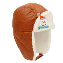 Winter Baby Kids Warm Earmuffs Hats Comfortable Cotton Inner Caps Best Gift-Coffee