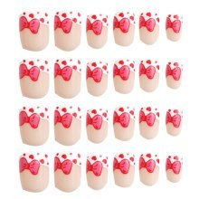 24 Pcs Fashion Nails Stickers Beautiful Nail Decorations False Nails Tips [E]