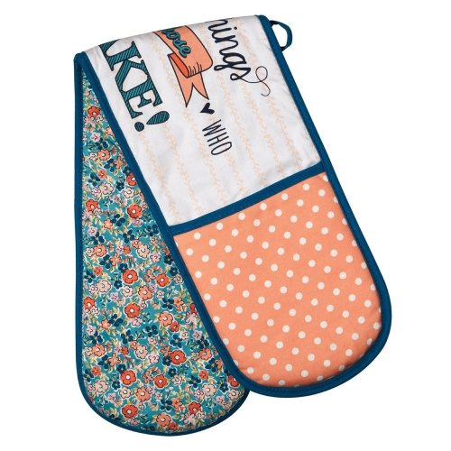 Pretty Things Double Oven Glove - Multi-coloured