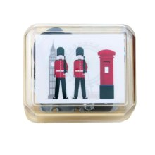 Mini Clockwork Music Box British Style Music Box Height Approx 1.5 Inch #4