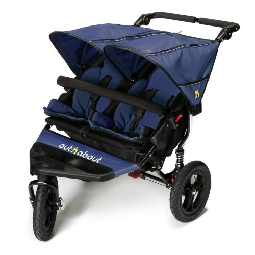 Out n about Nipper double pushchair V4 in Royal navy