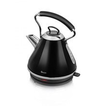 Swan Pyramid Kettle Rapid Boil 1.7L - Black/Cream/Red (Model No. SK34010BLKN)