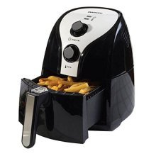 Daewoo Black & Silver Health Low Fat Oil Free Rapid Air Fryer Cooker 2.6L 1350W With Timer