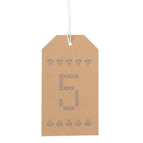 Kraft Advent Luggage Tags 1 - 24 DIY Advent Christmas Calendar Countdown