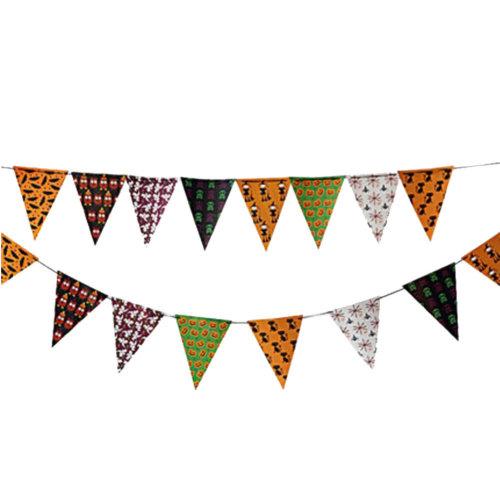 2PCS Halloween Triangle Flag Creative House Party Decor 30CM