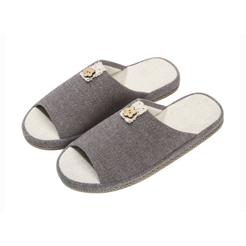 (Made By Flax)Skidproof The Simple Style Of Home Slippers(Coffee)