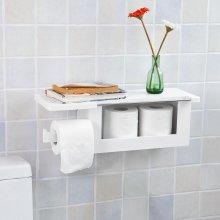 SoBuy® FRG175-W, Wall Mounted Bathroom Toilet Paper Roll Holder