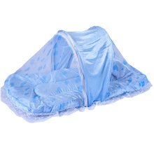Foldable Mosquito Net with Sleeping Pad Insect Netting Cribs -Blue