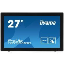 Iiyama T2735MSCB2 27In Touchscreen LCD Monitor -DVI HDMI VGA