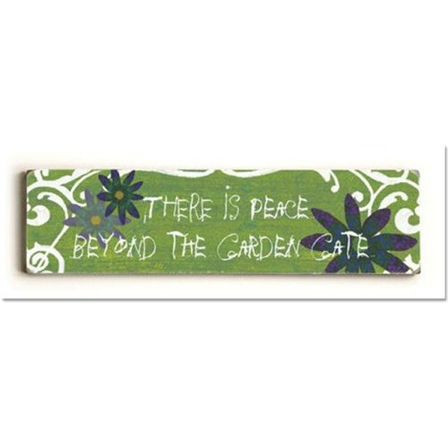 ArteHouse 0003-2600-24 There is Peace Beyond the Garden Vintage Sign