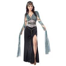 Uk 10-14 Ladies Medusa Costume -  medusa costume dress fancy greek goddess ladies outfit FANCY DRESS LADIES MEDUSA GREEK MYTH GODDESS QUEEN HALLOWEEN