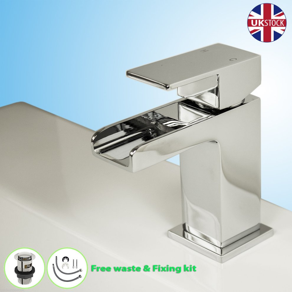 Chrome Square Waterfall Tap