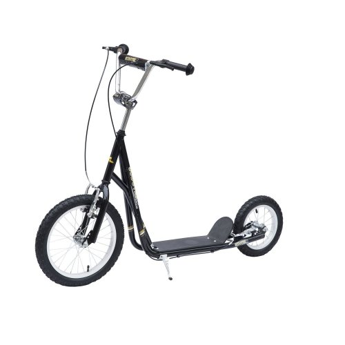 Homcom Push Scooter With Kickstand & Brakes