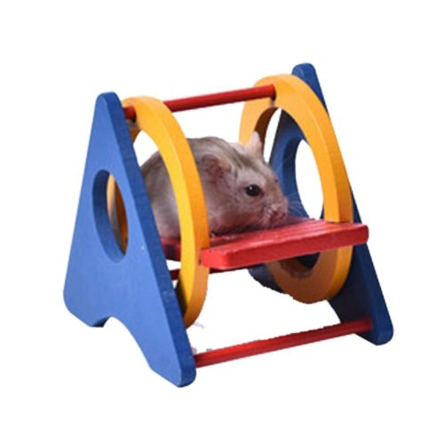 [L] Hamster Wooden Toy Hamsters DIY Habitat Pet Supplies for Small Animal