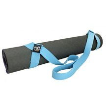 Light Blue Yoga Belt & Mat Carry Strap - Fitness Mad Gym Exercise Easy Hold - Fitness Mad Light Blue Yoga Belt Mat Carry Strap Gym Exercise Easy Hold