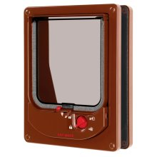Electromagnetic Cat Flap Brown 16.8x21.9cm
