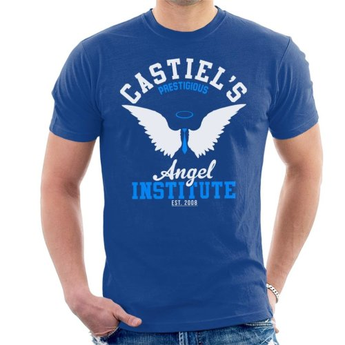 Supernatural Castiels Angel Institute Men's T-Shirt