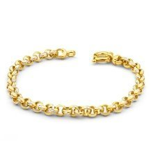 New 9 CT Gold Filled Belcher Bracelet Teenager or Lady 7.5 inch 19.5cm B14