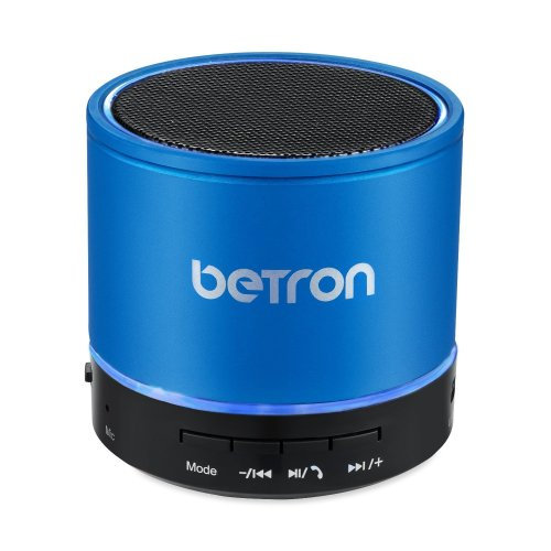 Betron KBS08 Wireless Portable Travel Bluetooth Speaker Blue