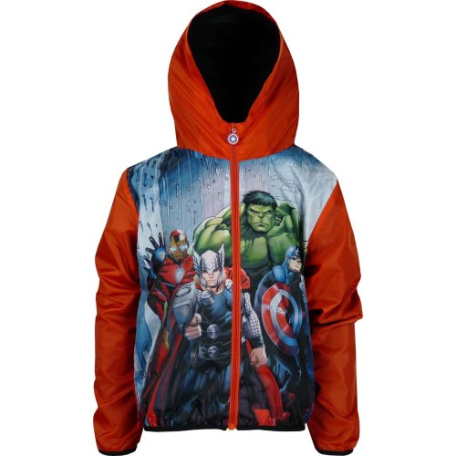 Boys DHQ1401 Marvel Avengers Lightweight Hooded Jacket with Bag Size: 4-10 Years
